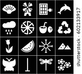 Nature Icons Set. Set Of 16...