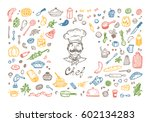 cooking. vector set for menu... | Shutterstock .eps vector #602134283