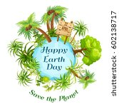 earth day in april.  | Shutterstock .eps vector #602138717