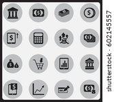 set of 16 editable banking... | Shutterstock .eps vector #602145557
