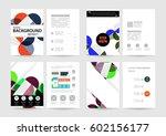 memphis geometric background... | Shutterstock .eps vector #602156177