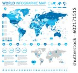 vector illustration of world map | Shutterstock .eps vector #602171513