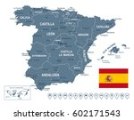 vector illustration of spain map | Shutterstock .eps vector #602171543