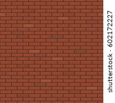 seamless red brick wall flat... | Shutterstock .eps vector #602172227