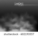 smoke  fog  cloud on a black... | Shutterstock .eps vector #602193557