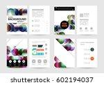 memphis geometric background... | Shutterstock .eps vector #602194037