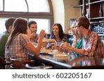 leisure  food  drinks  people... | Shutterstock . vector #602205167