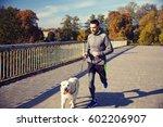 fitness  sport  people  pets... | Shutterstock . vector #602206907