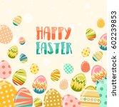 vector happy easter greeting... | Shutterstock .eps vector #602239853