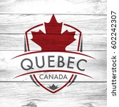 a canadian province crest on a... | Shutterstock . vector #602242307