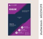 a4 flyer business vector design ... | Shutterstock .eps vector #602254193