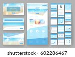 website template  one page... | Shutterstock .eps vector #602286467