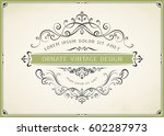 horizontal ornate vintage... | Shutterstock .eps vector #602287973