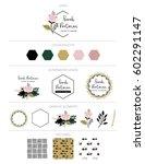 branding design  kit. logo... | Shutterstock .eps vector #602291147