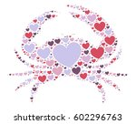 crab shape vector design... | Shutterstock .eps vector #602296763