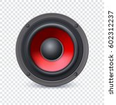 audio speaker with the red... | Shutterstock . vector #602312237