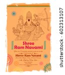 illustration of lord rama  sita ... | Shutterstock .eps vector #602313107
