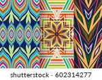 set of 3 abstract seamless... | Shutterstock .eps vector #602314277