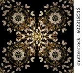 black background with golden... | Shutterstock .eps vector #602318513