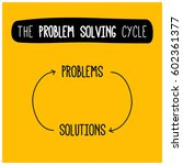 the problem solving and... | Shutterstock .eps vector #602361377