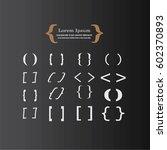 bracket.brace. curly brackets... | Shutterstock .eps vector #602370893