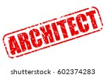 architect red stamp text on... | Shutterstock .eps vector #602374283