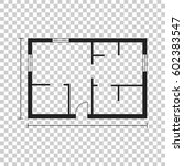 house plan simple flat icon....   Shutterstock .eps vector #602383547