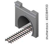 vector railway tunnel in... | Shutterstock .eps vector #602384933