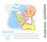 children's horoscope icon. kids ... | Shutterstock .eps vector #602390393