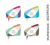 message   vector logo template... | Shutterstock .eps vector #602395193