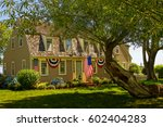 american home   decorated in... | Shutterstock . vector #602404283