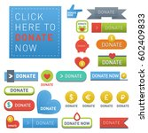 donate buttons vector set... | Shutterstock .eps vector #602409833