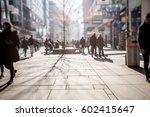 silhouette of people walking on ... | Shutterstock . vector #602415647