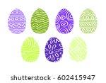 vector set of decorative...   Shutterstock .eps vector #602415947