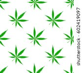 seamless pattern with cannabis... | Shutterstock .eps vector #602419097