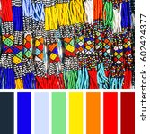 african tribal necklaces made... | Shutterstock . vector #602424377
