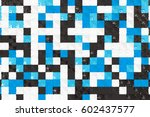 pattern of black  white and... | Shutterstock . vector #602437577