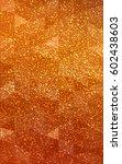 light orange christmas polygon...   Shutterstock . vector #602438603