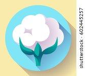 flat cotton icon vector. white... | Shutterstock .eps vector #602445257