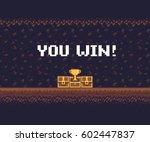pixel art game background ... | Shutterstock .eps vector #602447837