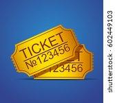 pair of yellow gold cinema... | Shutterstock .eps vector #602449103