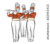 red colored military band... | Shutterstock .eps vector #602451413