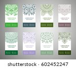 set of banners with ethnic... | Shutterstock .eps vector #602452247