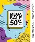 modern colorful poster  banner  ... | Shutterstock .eps vector #602454407