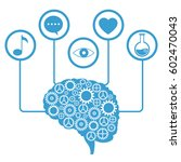 brain human gear learning icons | Shutterstock .eps vector #602470043