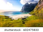 mountain beach landscape | Shutterstock . vector #602475833