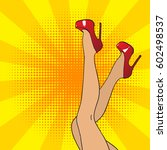 Pop Art Female Legs In Red...