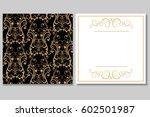 elegant golden black invitation ...   Shutterstock .eps vector #602501987