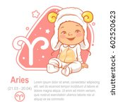 children's horoscope icon. kids ... | Shutterstock .eps vector #602520623