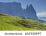 schlern sciliar mountain  its... | Shutterstock . vector #602530997